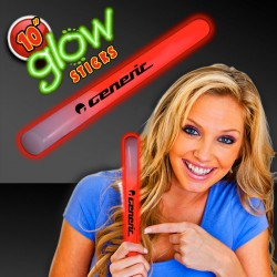 Red 10 Inch Glow Sticks