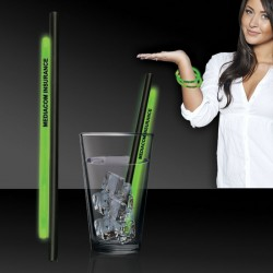 Green 9 Inch Glow Straws AND Bracelets