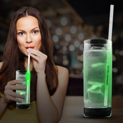 Green Glow Motion Straws - 9""