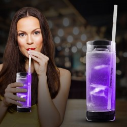 Purple Glow Motion Straws - 9""