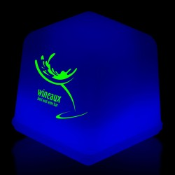 "1"" Blue Glowing Ice Cubes"