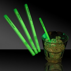 Green Glowing Swizzle Sticks/Drink Stirrers