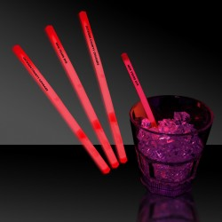 Red Glowing Swizzle Sticks/Drink Stirrers