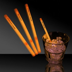 Orange Glowing Swizzle Sticks/Drink Stirrers
