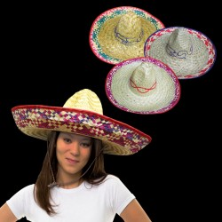 18 Inch Natural Straw Sombrero