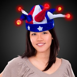 Light Up USA Jester Hat