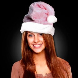 Pink Plush Santa Claus Hat