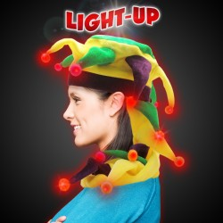 L.E.D Mardi Gras Dragon Tail Hat