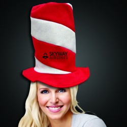 Red and White Candy Stripe Stove Top Hat