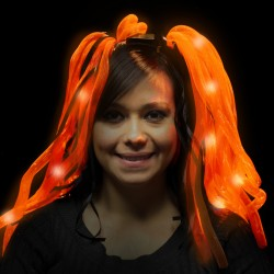 Orange & Black LED Diva Dreads