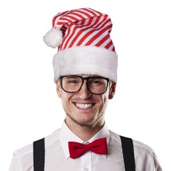 Candy Cane Striped Santa Hat