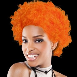Orange Team Spirit Wigs