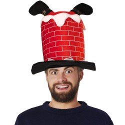 Santa in Chimney Hat