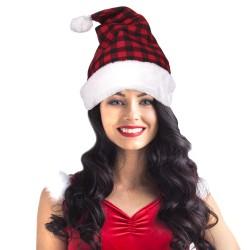 Plaid Santa Hat
