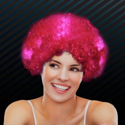 Pink LED Spirit Costume Wigs
