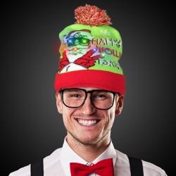 Happy Holiday LED Knit Hat