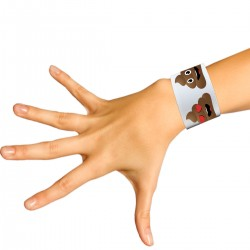 Poop Emoji Slap Bracelets