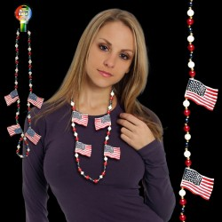 USA Flag Necklace