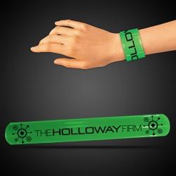 "8 3/4"" Green Slap Bracelets"