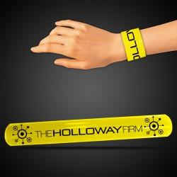 "8 3/4"" Yellow Slap Bracelets"