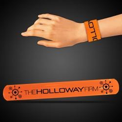 """8 3/4"""" Orange Slap Bracelets"""
