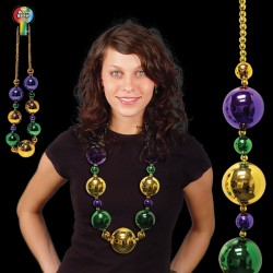 Mardi Gras Jumbo Bead Necklace