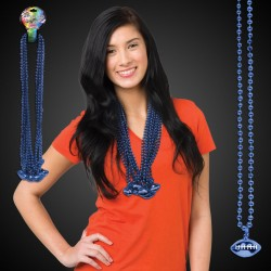Blue Football Necklace Beads