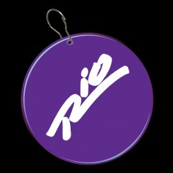 Purple Circle Plastic Medallion Badges