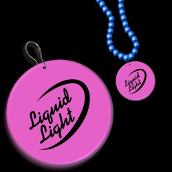 Pink Circle Plastic Medallion Badges
