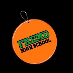 Orange Circle Plastic Medallion Badges
