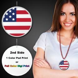 "American Flag Plastic Medallions - 2 1/2"""