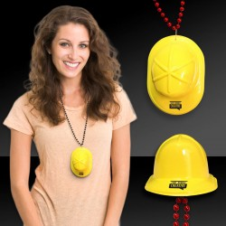Mini Yellow Construction Hat w/ J- Hook Attachment