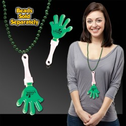 Green & White Hand Clappers w/ J - Hook