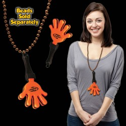 Orange & Black Hand Clappers w/ J - Hook