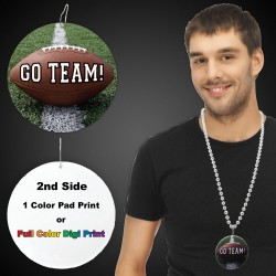Football Go Team  Plastic Medallions - 2 1/2""