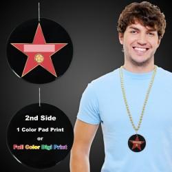 "Hollywood Star Plastic Medallions - 2 1/2"""