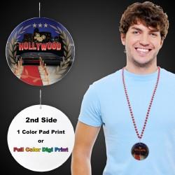 "Hollywood Plastic Medallions - 2 1/2"""