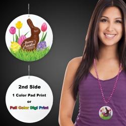 """Easter Peeps Plastic Medallions - 2 1/2"""""""