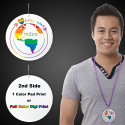 "Pride Love Wins Plastic Medallions - 2 1/2"""