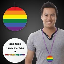 """Rainbow Plastic Medallions - 2 1/2"""""""