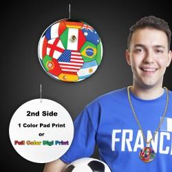 "International Flag Plastic Medallions2 1/2"""
