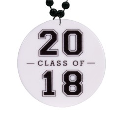 "Class of 2018 Graduation Plastic Medallions2 1/2"""