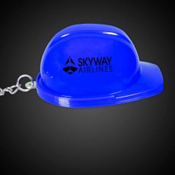 Blue Plastic Construction Hat Bottle Opener Key Chains