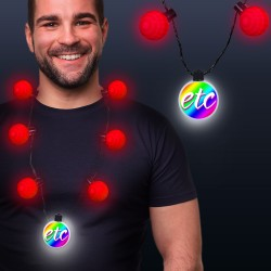 Red LED Medallion Ball Necklace