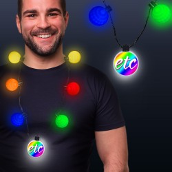 LED Medallion Ball Necklace - Variety of Colors Available