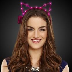 Pink LED Cat Ear Headband