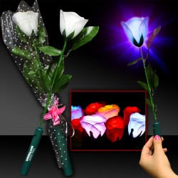 White Rose with Multi Color LEDs
