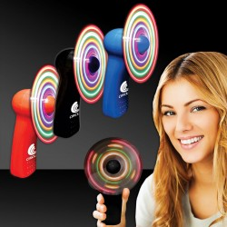 "4"" - Light Up Hand Held Fan - Variety of Colors"