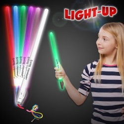 11 Inch Electronic Glow Stick with Lanyard