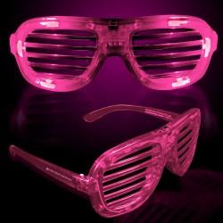 Pink LED Slotted Glasses